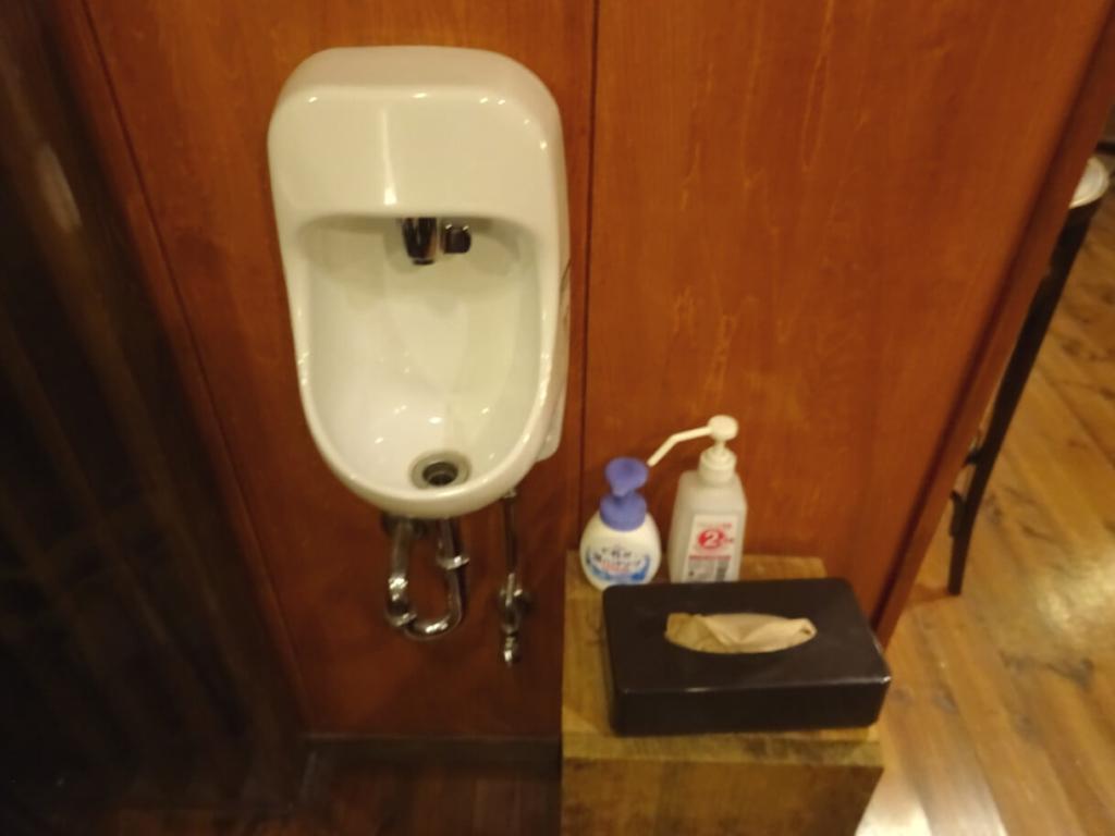 ブルービーンズコーヒー福島AXC(アックスビル)店内手洗い箇所画像